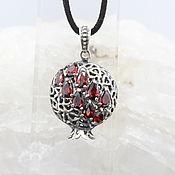 Украшения handmade. Livemaster - original item Garnet pendant with garnets made of 925 GA0046 silver. Handmade.
