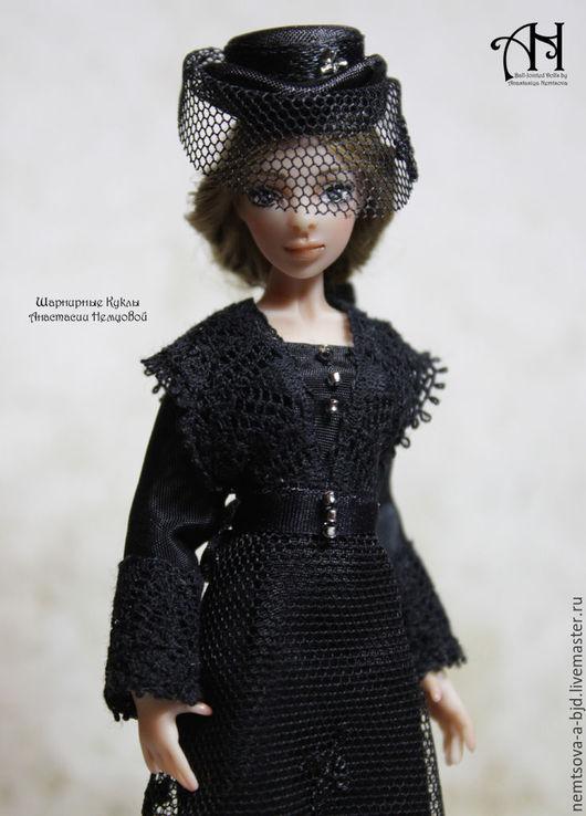 Кукольный дом ручной работы. Ярмарка Мастеров - ручная работа. Купить Анна (12,5 см). Handmade. Черный