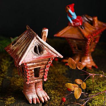 Для дома и интерьера ручной работы. Ярмарка Мастеров - ручная работа Скульптуры: Избушка. Handmade.