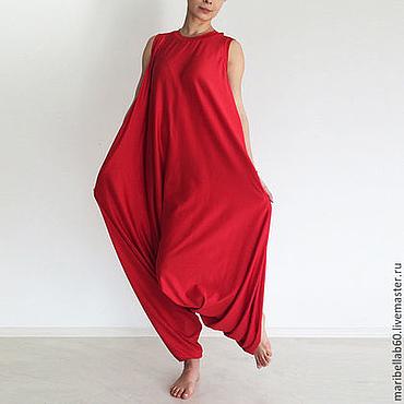 Одежда ручной работы. Ярмарка Мастеров - ручная работа Комбинезон для йоги, комбинезон женский, большие размеры -  PLAMA. Handmade.