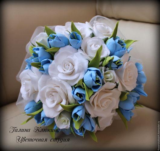 Свадебные цветы ручной работы. Ярмарка Мастеров - ручная работа. Купить Свадебный комплект: букет невесты, заколочка, бутоньерка.... Handmade.