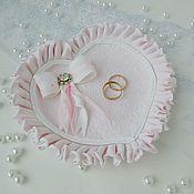 """Свадебный салон ручной работы. Ярмарка Мастеров - ручная работа Тарелочка для колец """"Розовое сердце"""". Handmade."""