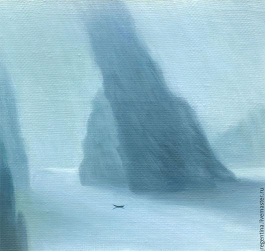 Пейзаж ручной работы. Ярмарка Мастеров - ручная работа. Купить opus 2. Handmade. Голубой, пейзаж, морской, скалы