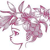 Дизайн и реклама ручной работы. Ярмарка Мастеров - ручная работа девочка  дизайн машинной вышивки. Handmade.