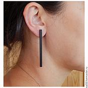 Украшения handmade. Livemaster - original item Minimalist long earrings. Handmade.