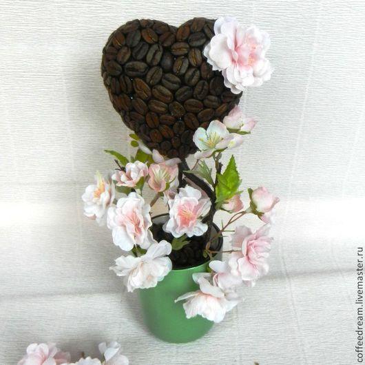 Персональные подарки ручной работы. Ярмарка Мастеров - ручная работа. Купить Кофейное дерево. Цветущая вишня.. Handmade. Розовый