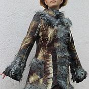 """Одежда ручной работы. Ярмарка Мастеров - ручная работа Пальто валяное """"Древние руны"""". Handmade."""