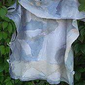 Одежда ручной работы. Ярмарка Мастеров - ручная работа Пончо  Морские волны. Handmade.