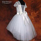 Платья ручной работы. Ярмарка Мастеров - ручная работа Белоснежное платье. Handmade.