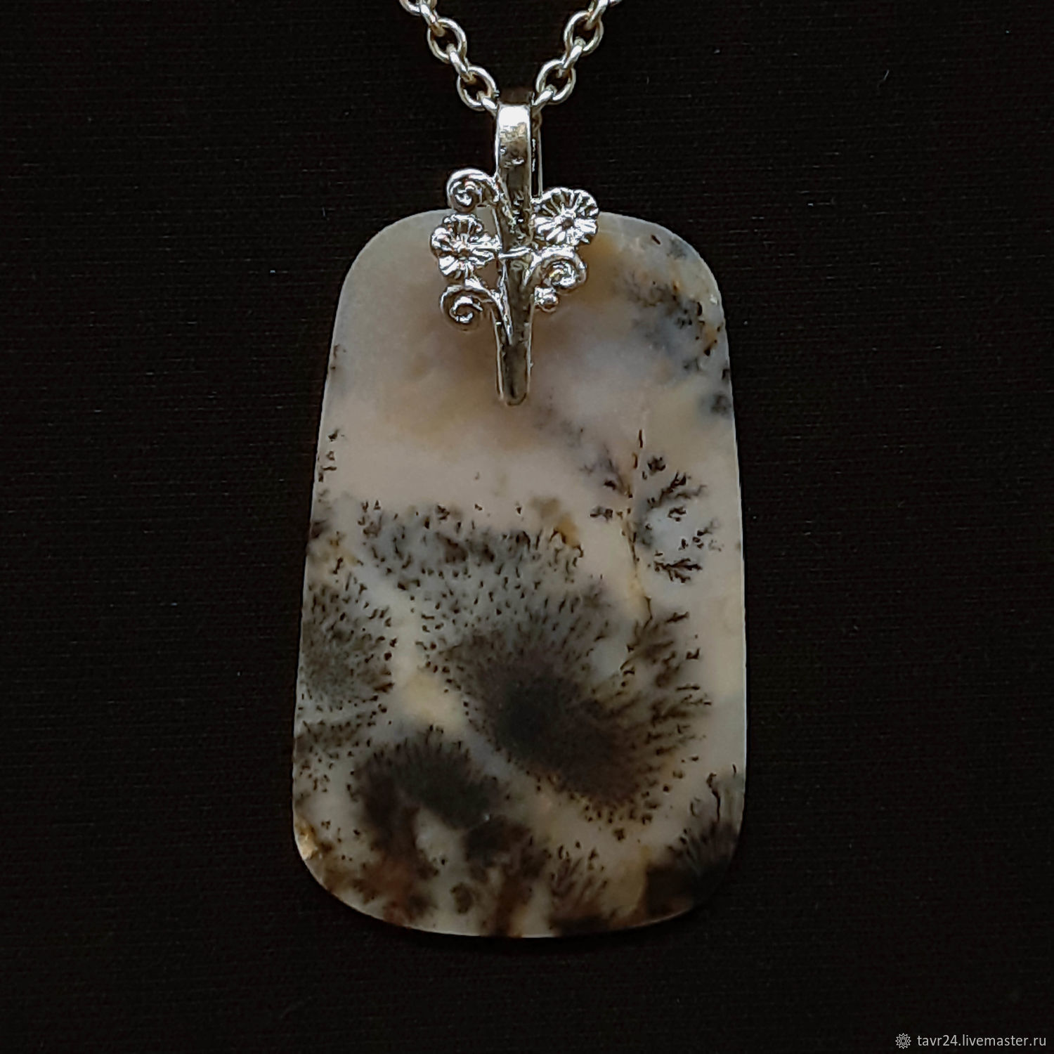 pendant №12. Chalcedony, an agate, agate Moholy, Pendant, St. Petersburg,  Фото №1