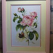 Картины и панно ручной работы. Ярмарка Мастеров - ручная работа Роза и бабочка. Handmade.