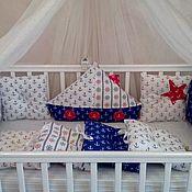 Текстиль ручной работы. Ярмарка Мастеров - ручная работа Бортики подушки в морском стиле. Handmade.