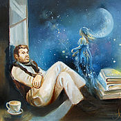 Картины и панно ручной работы. Ярмарка Мастеров - ручная работа Muse - Сказочная картина. Handmade.