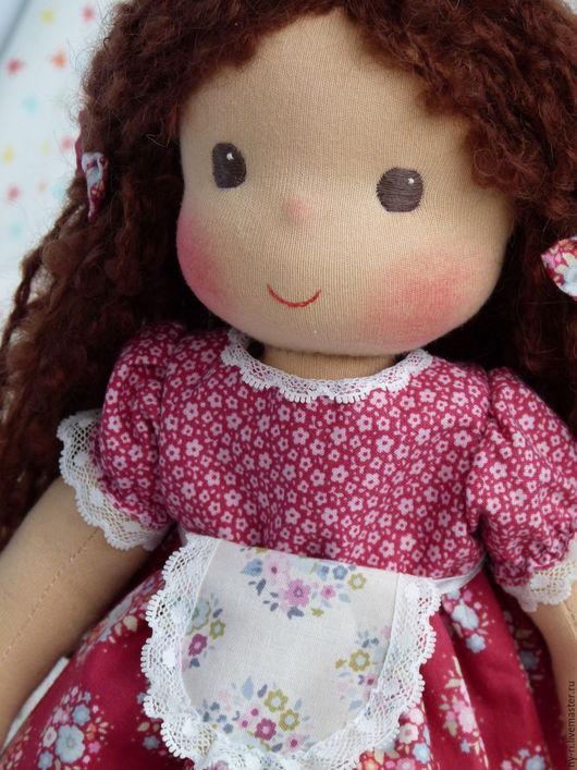 вальдорфская кукла купить, детская игровая кукла купить, красная шапочка, красный