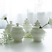 Посуда handmade. Livemaster - original item Set of marshmallow jars, handmade ceramics. Handmade.