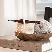 Материалы для творчества handmade. Livemaster - original item Wooden crochet hook made of maple wood 4 mm. K295. Handmade.