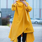 Одежда handmade. Livemaster - original item Cashmere yellow coat, denisenoe - CT0001CA. Handmade.