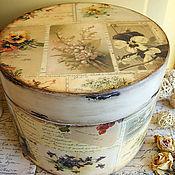 Для дома и интерьера ручной работы. Ярмарка Мастеров - ручная работа Memories. Шляпная коробка. Handmade.