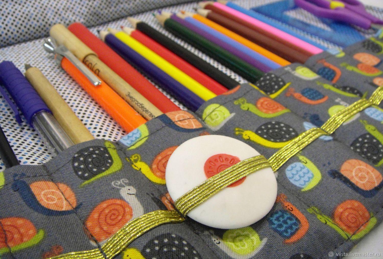 Pencil Cases handmade. Livemaster - handmade. Buy Pencil case for pencils and pens.Purple