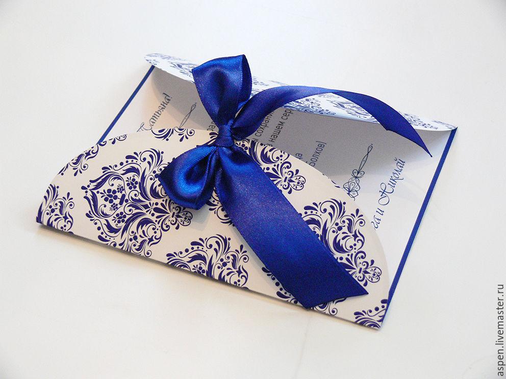 Как сделать открытку приглашение на свадьбу