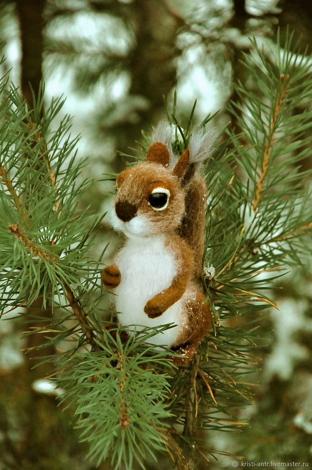 felted toy Squirrel, Felted Toy, Arkhangelsk,  Фото №1