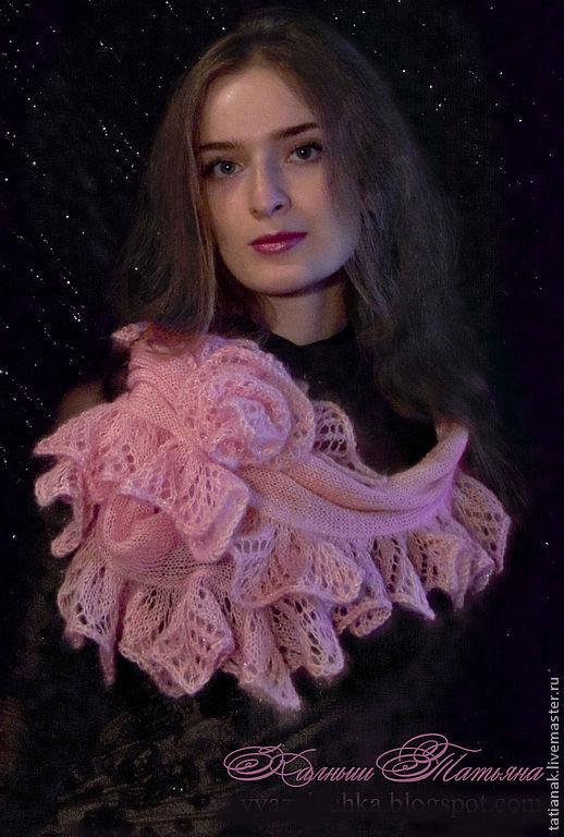 """Шарфы и шарфики ручной работы. Ярмарка Мастеров - ручная работа. Купить Шарф """"Розовый каприз"""". Handmade. Вязаный шарф"""