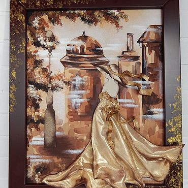 Картины и панно ручной работы. Ярмарка Мастеров - ручная работа Картины: Дама золотая. Handmade.