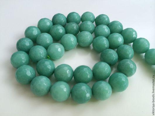Для украшений ручной работы. Ярмарка Мастеров - ручная работа. Купить Агат светло-зеленый бусины 10 мм огранка. Handmade.