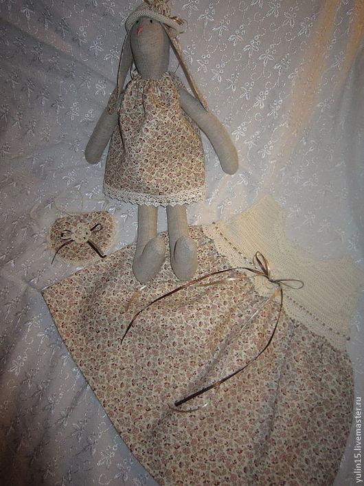 Одежда для девочек, ручной работы. Ярмарка Мастеров - ручная работа. Купить Комплект для девочки. Handmade. Бежевый, зайка тильда, крючком