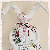 Для дома и интерьера ручной работы. Ярмарка Мастеров - ручная работа Пакетница - заяц мальчик. Handmade.