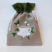 Кармашки ручной работы. Ярмарка Мастеров - ручная работа Мешочек для чая. Handmade.