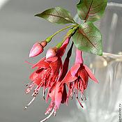 Украшения handmade. Livemaster - original item Hair stick with fuchsia flowers. Handmade.