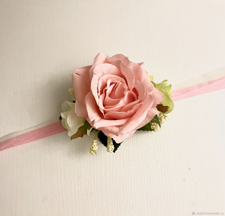 A bracelet for bridesmaids or for prom, Textile bracelet, Kaluga,  Фото №1