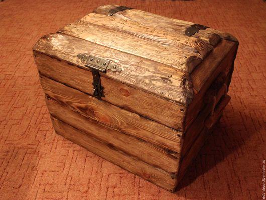 Мебель ручной работы. Ярмарка Мастеров - ручная работа. Купить Большой старинный сундук. Handmade. Сундук, большой сундук, ящик из дерева