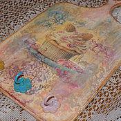 Для дома и интерьера ручной работы. Ярмарка Мастеров - ручная работа Доска-вешалка-ключница,,Яркость вкуса,,.. Handmade.