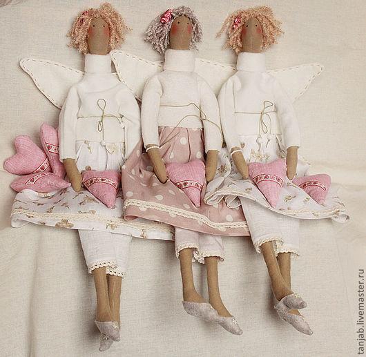 Куклы Тильды ручной работы. Ярмарка Мастеров - ручная работа. Купить Тильда Ангел. Handmade. Бежевый, хлопок