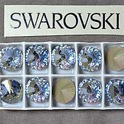 Материалы для творчества handmade. Livemaster - original item 1 PCs 12mm Rivoli Blue Shade 001BLSH Swarovski Rivoli Swarovski. Handmade.