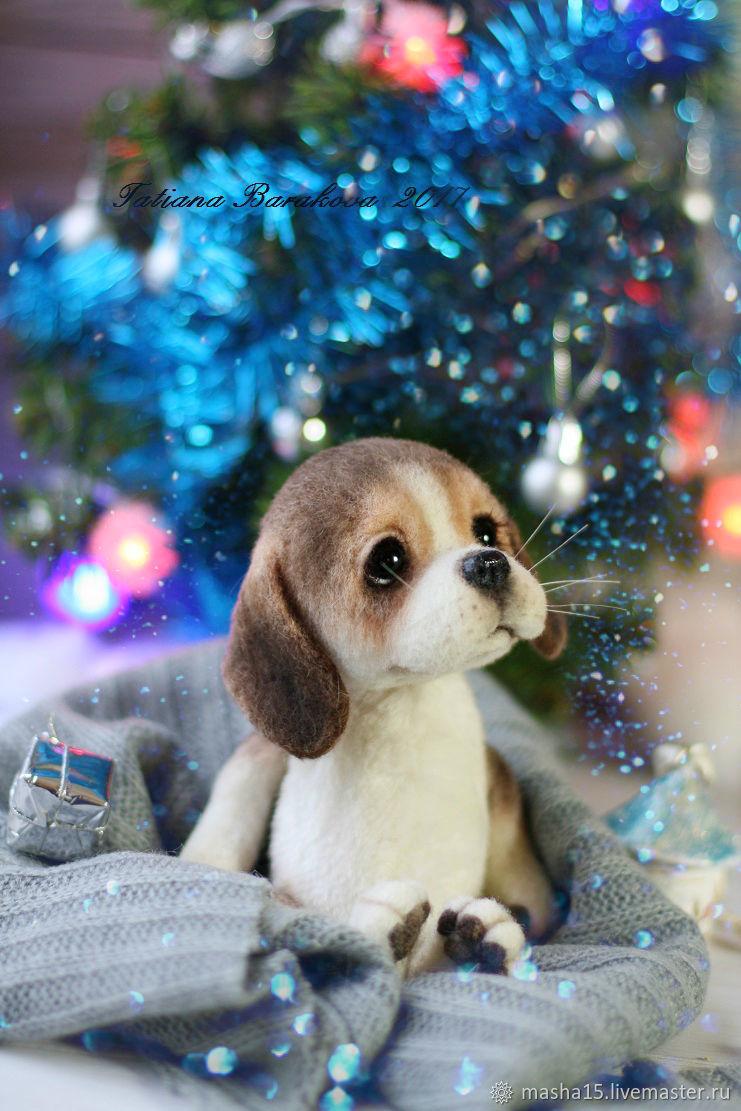 """Валяный щенок бигля """"Арти"""", Войлочная игрушка, Санкт-Петербург,  Фото №1"""