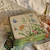 """Для дома и интерьера ручной работы. Ярмарка Мастеров - ручная работа шкатулка """"Полевые цветы"""". Handmade."""