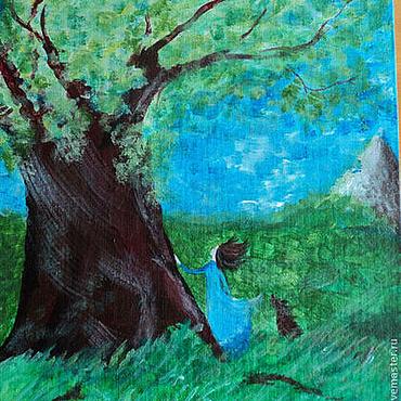 """Картины и панно ручной работы. Ярмарка Мастеров - ручная работа Картинка """"Расскажи нам сказку"""". Handmade."""