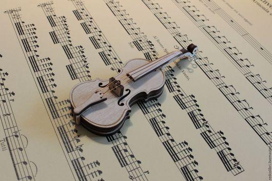 Миниатюра ручной работы. Ярмарка Мастеров - ручная работа. Купить Скрипка - миниатюрная копия. Handmade. Заготовка для росписи, заготовка из дерева