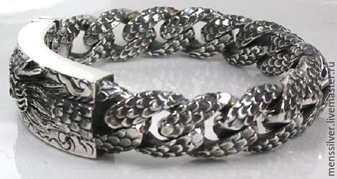 Мужские браслеты из серебра 925 пробы цена