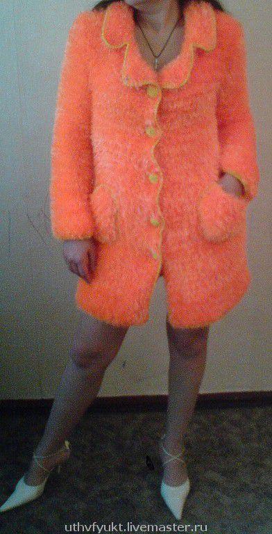 """Верхняя одежда ручной работы. Ярмарка Мастеров - ручная работа. Купить Пальто """"Оранжевое настроение"""". Handmade. Авторская работа"""