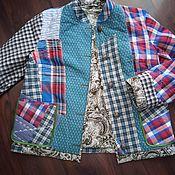 Одежда handmade. Livemaster - original item Women`s Cotton Plaid Jacket.. Handmade.