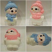"""Косметика ручной работы. Ярмарка Мастеров - ручная работа мыло"""" снеговик девочка и мальчик"""". Handmade."""