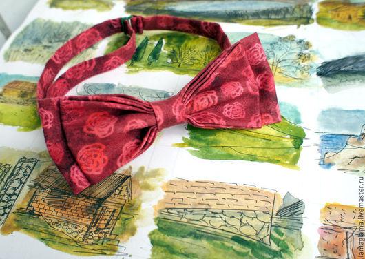 Галстуки, бабочки ручной работы. Ярмарка Мастеров - ручная работа. Купить галстук-бабочка роза. Handmade. Ярко-красный, цвет