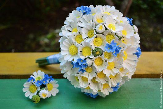 Букеты ручной работы. Ярмарка Мастеров - ручная работа. Купить Букет невесты из полимерной глины. Handmade. Белый