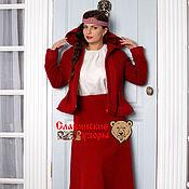 Одежда handmade. Livemaster - original item Skirt wool red. Handmade.