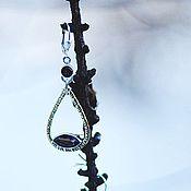 """Украшения ручной работы. Ярмарка Мастеров - ручная работа Серьги с раухтопазом """"Вечерняя дымка"""". Handmade."""