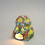 """Для дома и интерьера ручной работы. Ярмарка Мастеров - ручная работа Домик - подсвечник """"Цветочный Малый"""". Керамика. Handmade."""